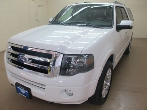 White Platinum Tri-Coat 2011 Ford Expedition EL Limited 4x4
