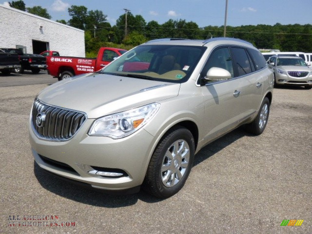 2015 buick enclave leather in champagne silver metallic 136895 all american automobiles. Black Bedroom Furniture Sets. Home Design Ideas