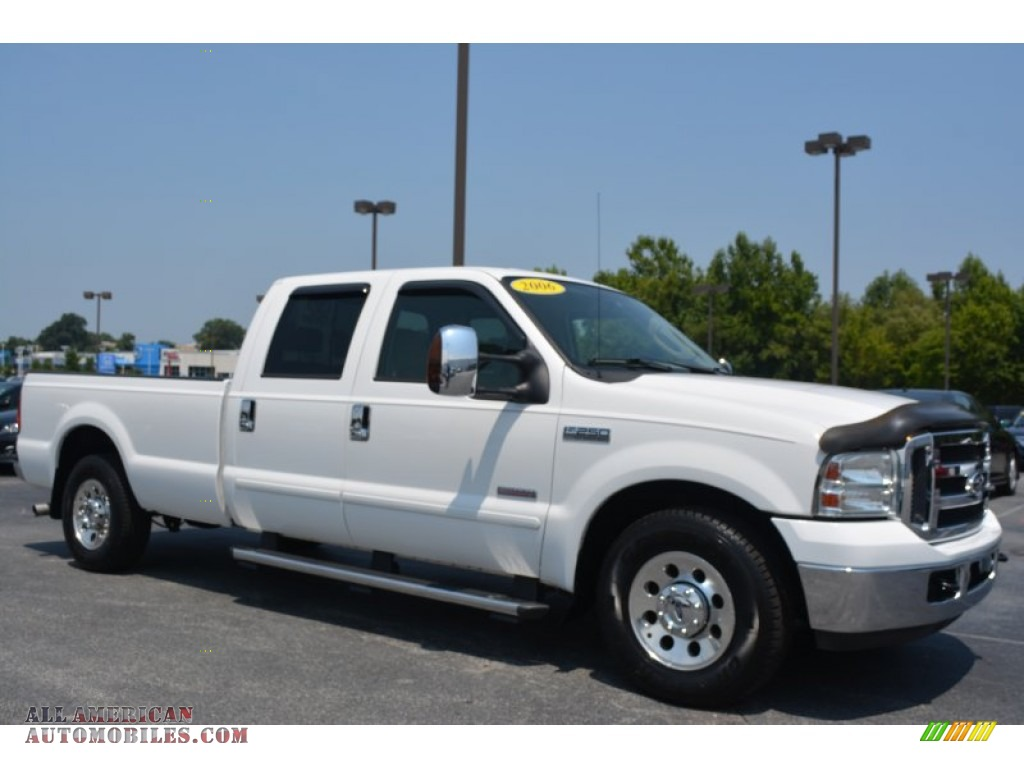 2006 ford f250 super duty xlt crew cab in oxford white. Black Bedroom Furniture Sets. Home Design Ideas