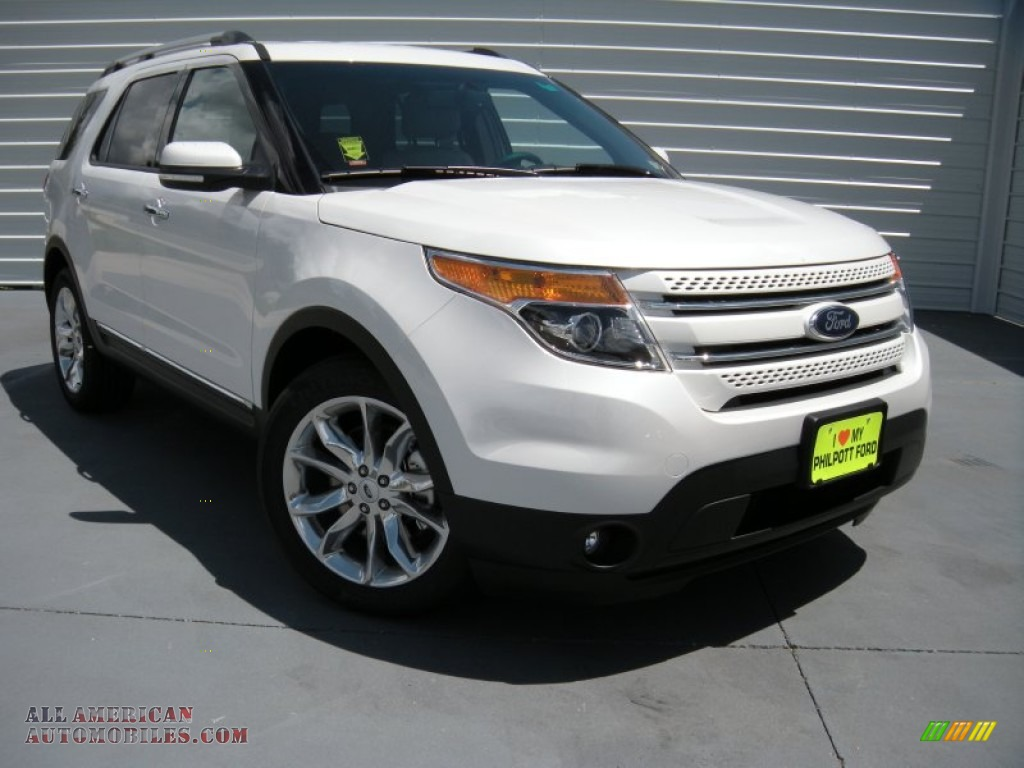 2015 ford explorer limited in white platinum a19469 all american automobiles buy american. Black Bedroom Furniture Sets. Home Design Ideas