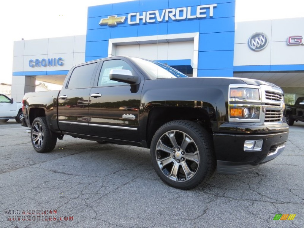 2014 chevrolet silverado 1500 high country crew cab in black 531595 all american automobiles. Black Bedroom Furniture Sets. Home Design Ideas