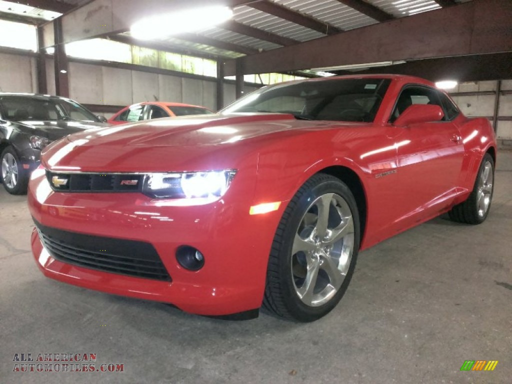 2015 chevrolet camaro lt rs coupe in red hot 114754 all american automobiles buy american. Black Bedroom Furniture Sets. Home Design Ideas