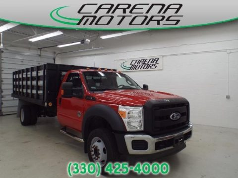 Vermillion Red 2012 Ford F550 Super Duty XL Regular Cab 4x4 Chassis