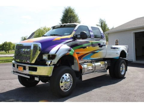 Custom Paint 2008 Ford F650 Super Duty XLT Crew Cab
