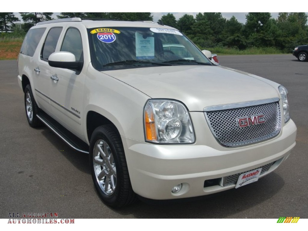 2011 gmc yukon xl denali awd in white diamond tintcoat 250934 all american automobiles buy. Black Bedroom Furniture Sets. Home Design Ideas
