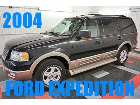 Black 2004 Ford Expedition Eddie Bauer 4x4