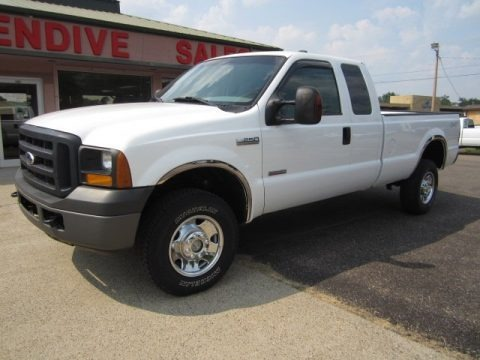 Oxford White Clearcoat 2007 Ford F250 Super Duty XL SuperCab 4x4