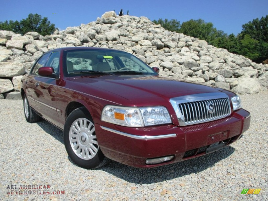 2007 mercury grand marquis ls in dark toreador red. Black Bedroom Furniture Sets. Home Design Ideas