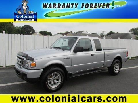 Silver Metallic 2010 Ford Ranger XLT SuperCab 4x4