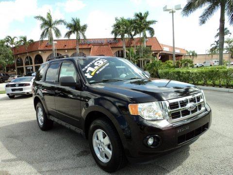 Ebony Black 2012 Ford Escape XLT