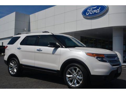 White Platinum 2015 Ford Explorer XLT