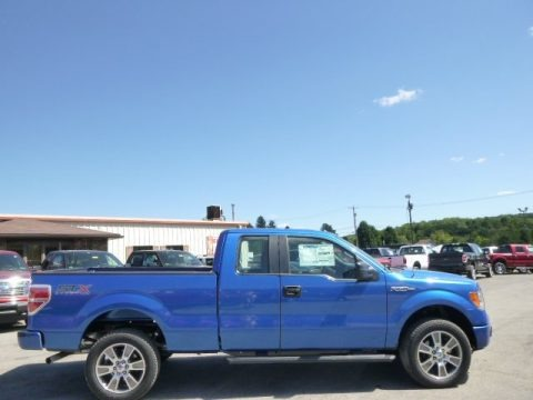 Blue Flame 2014 Ford F150 STX SuperCab 4x4