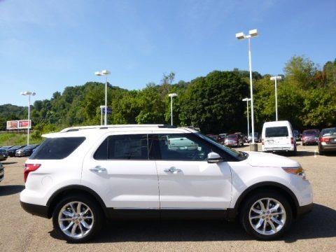 White Platinum 2015 Ford Explorer Limited 4WD