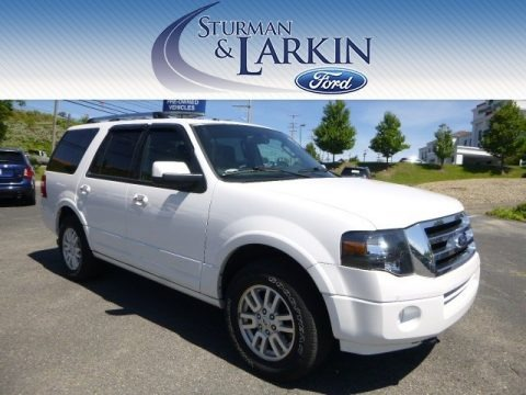 White Platinum Tri-Coat 2013 Ford Expedition Limited 4x4