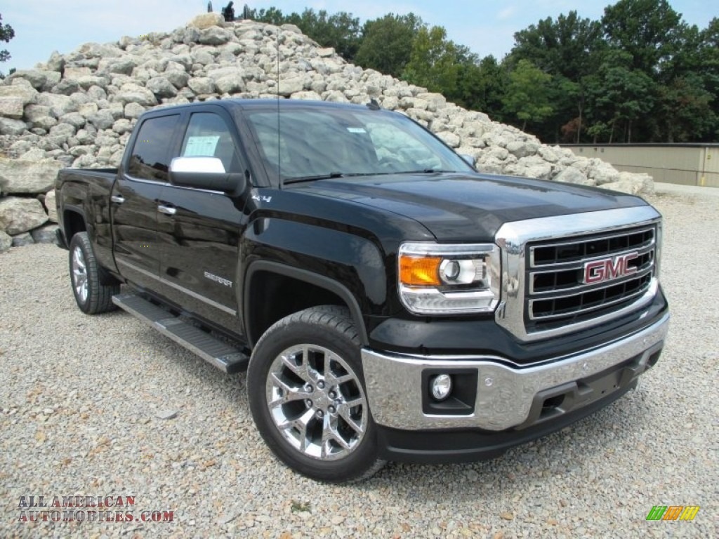 2014 gmc sierra 1500 slt crew cab 4x4 in onyx black 555565 all american automobiles buy. Black Bedroom Furniture Sets. Home Design Ideas