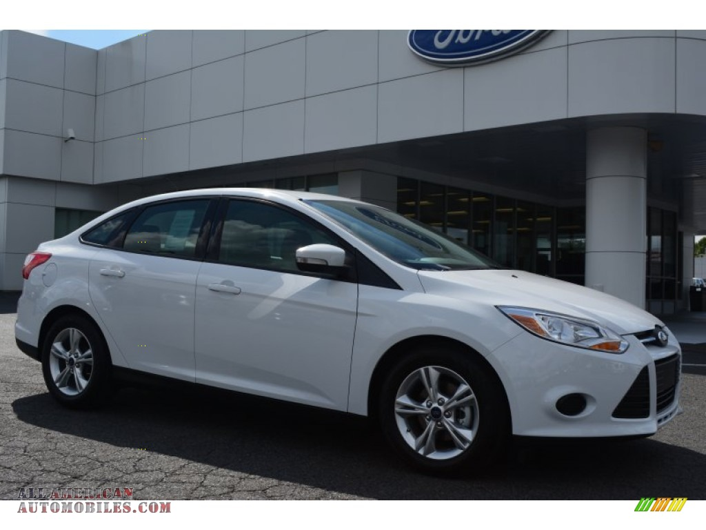 2014 ford focus se sedan in oxford white 387134 all american automobiles buy american cars. Black Bedroom Furniture Sets. Home Design Ideas