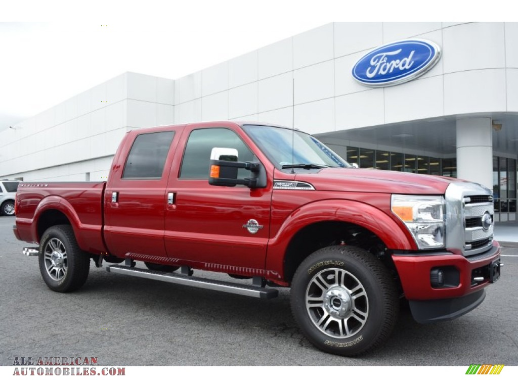 2015 ford f250 super duty platinum crew cab 4x4 in ruby red a06997 all american automobiles. Black Bedroom Furniture Sets. Home Design Ideas