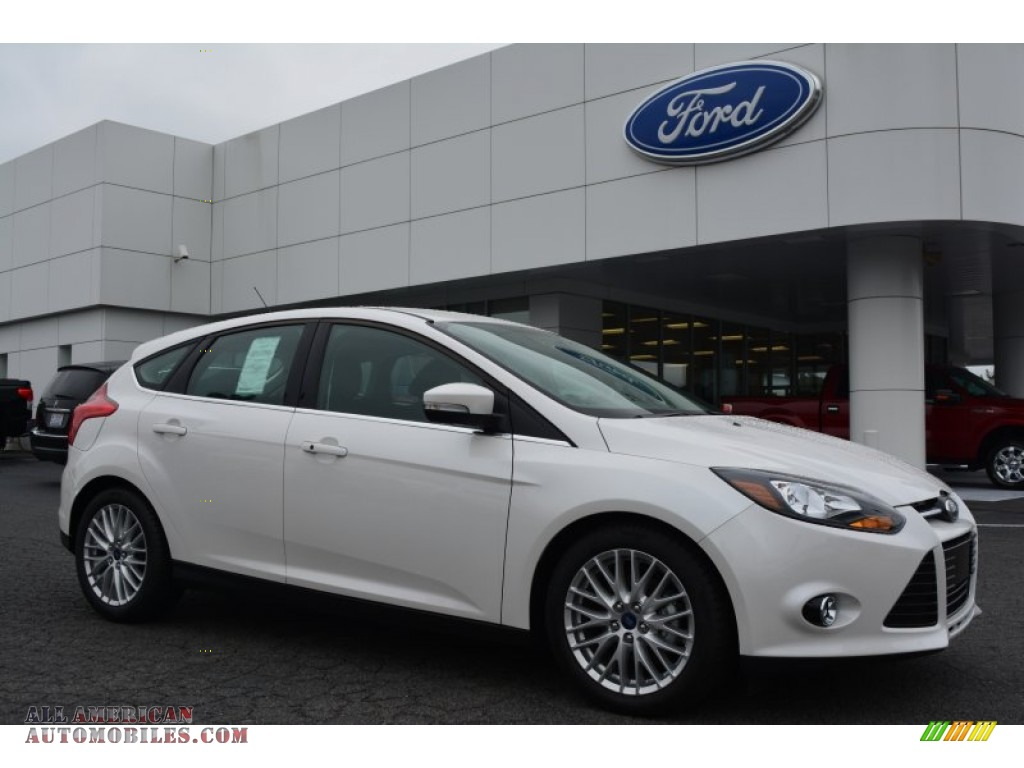 2014 ford focus titanium hatchback in white platinum 367241 all american automobiles buy. Black Bedroom Furniture Sets. Home Design Ideas