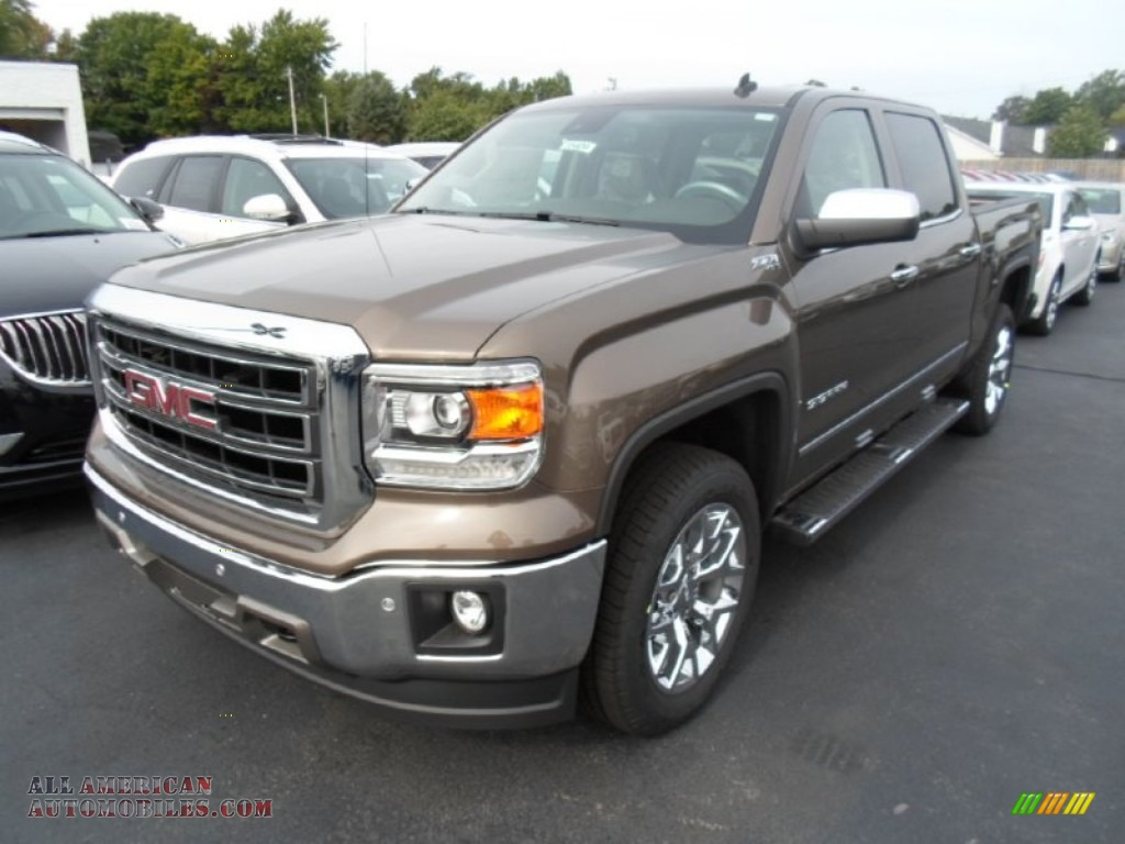 2014 gmc sierra 1500 slt crew cab 4x4 in bronze alloy metallic 562666 all american. Black Bedroom Furniture Sets. Home Design Ideas