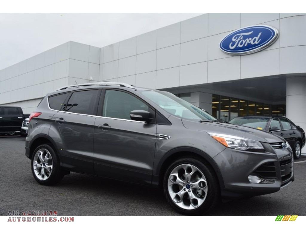 2014 ford escape titanium 2 0l ecoboost in sterling gray e46405 all american automobiles. Black Bedroom Furniture Sets. Home Design Ideas