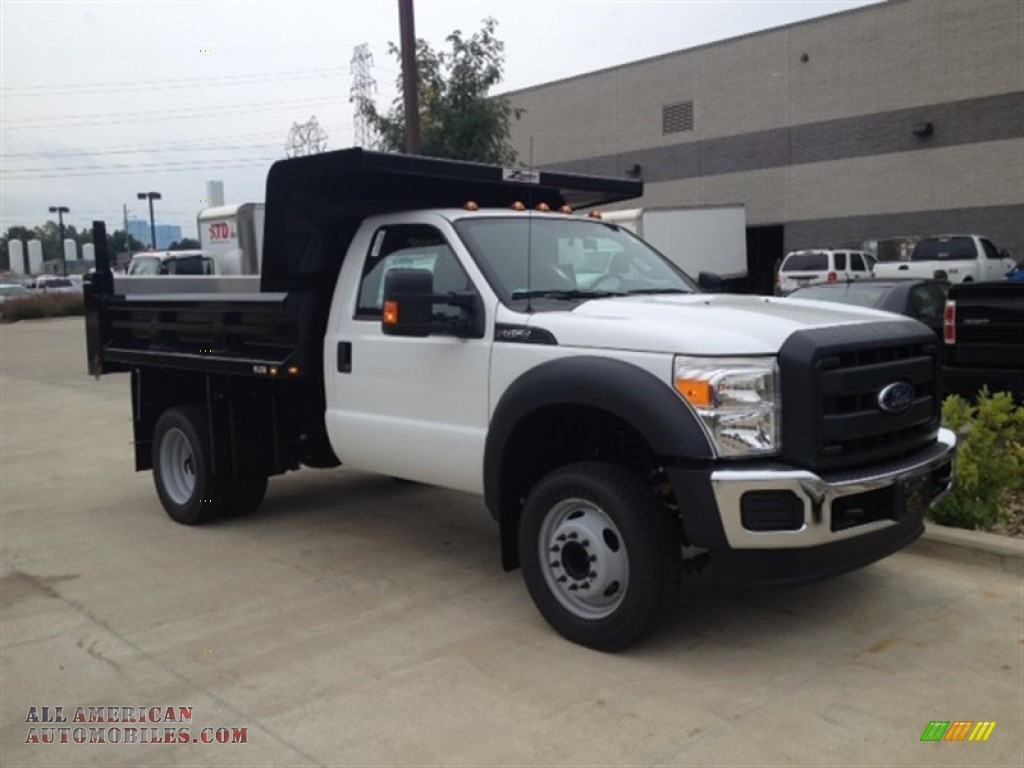 2015 ford f450 super duty xl regular cab dump truck in oxford white a89544 all american. Black Bedroom Furniture Sets. Home Design Ideas