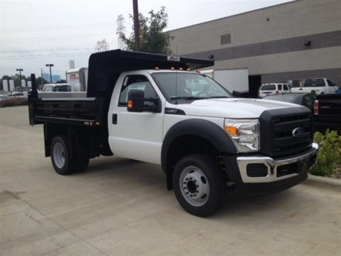 Oxford White 2015 Ford F450 Super Duty XL Regular Cab Dump Truck
