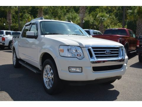 White Suede 2008 Ford Explorer Sport Trac Limited