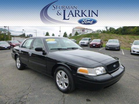 Black 2011 Ford Crown Victoria LX