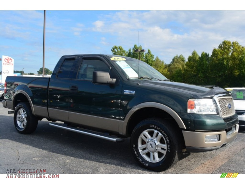 2004 ford f150 lariat supercab 4x4 in aspen green metallic a74354 all american automobiles. Black Bedroom Furniture Sets. Home Design Ideas