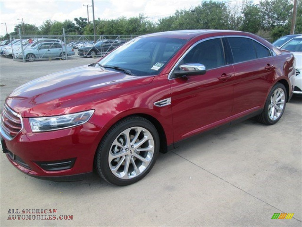 2015 ford taurus limited in ruby red metallic 105662 all american automobiles buy american. Black Bedroom Furniture Sets. Home Design Ideas