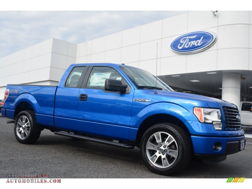 2014 Ford F150 Stx Supercab In Blue Flame F50822 All