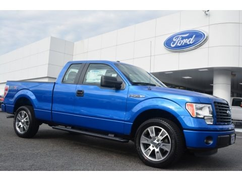 Blue Flame 2014 Ford F150 STX SuperCab