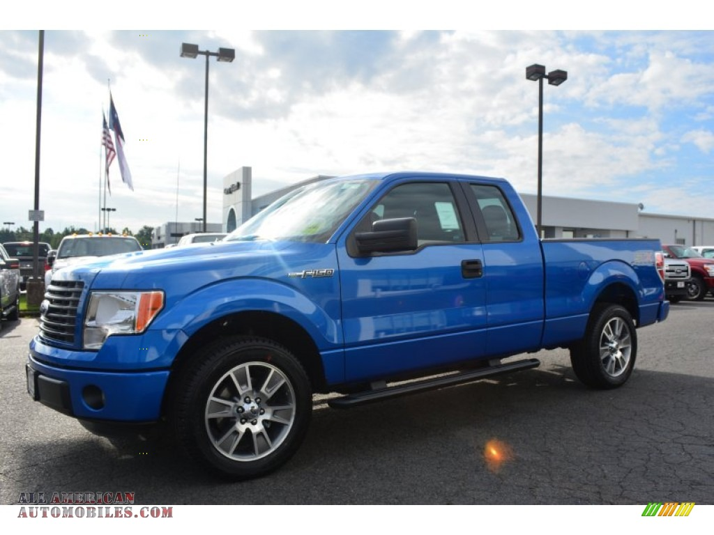 2014 Ford F150 Stx Supercab In Blue Flame Photo 3