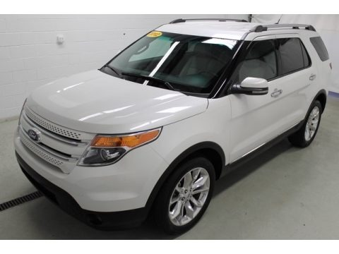White Platinum Tri-Coat 2012 Ford Explorer Limited 4WD