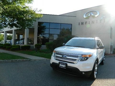 White Suede 2011 Ford Explorer XLT 4WD