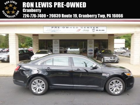Ebony Black 2012 Ford Taurus Limited
