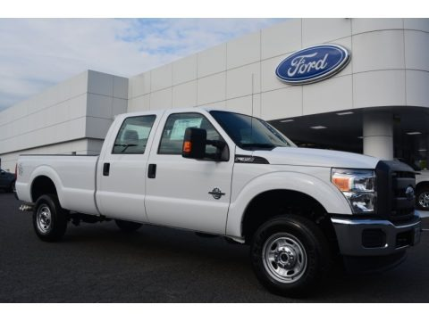Oxford White 2015 Ford F350 Super Duty XL Crew Cab 4x4