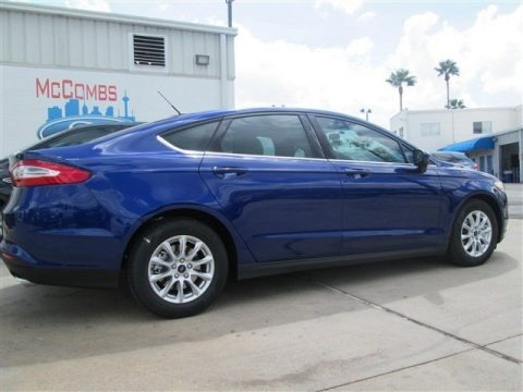 Deep Impact Blue Metallic 2015 Ford Fusion S