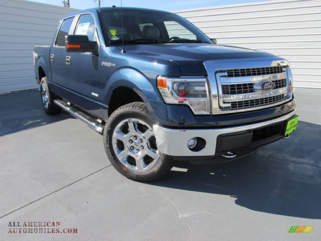 2014 ford f150 xlt supercrew 4x4 in blue jeans f46624 all american automobiles buy. Black Bedroom Furniture Sets. Home Design Ideas