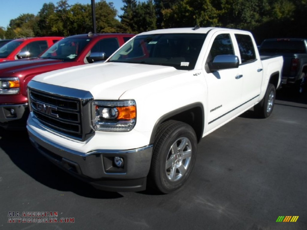 2014 gmc sierra 1500 slt crew cab 4x4 in summit white 406721 all american automobiles buy. Black Bedroom Furniture Sets. Home Design Ideas