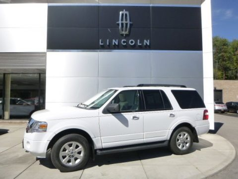 Oxford White 2010 Ford Expedition XLT 4x4