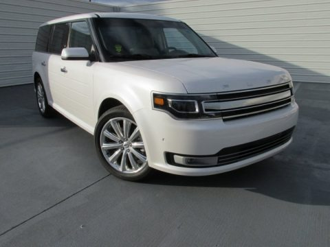 White Platinum 2014 Ford Flex Limited