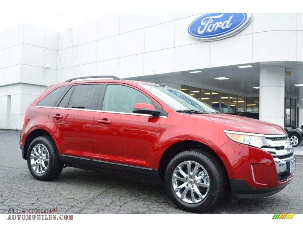 2014 ford edge limited in ruby red b10339 all american. Black Bedroom Furniture Sets. Home Design Ideas