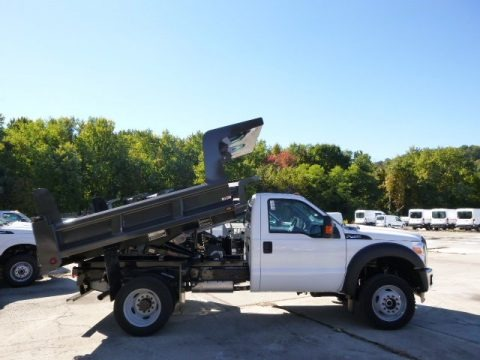 Oxford White 2015 Ford F450 Super Duty XL Regular Cab Dump Truck 4x4