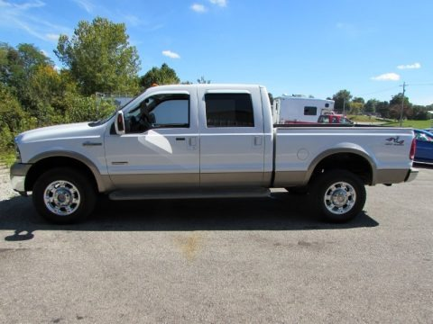 Oxford White 2005 Ford F350 Super Duty King Ranch Crew Cab 4x4