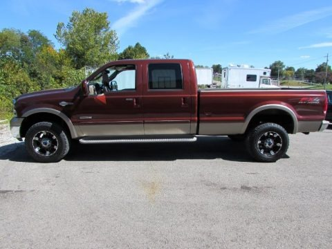 Dark Copper Metallic 2005 Ford F350 Super Duty King Ranch Crew Cab 4x4