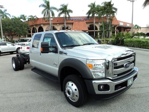 Ingot Silver Metallic 2015 Ford F550 Super Duty Lariat Crew Cab 4x4 Chassis