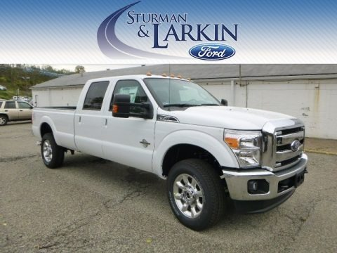 Oxford White 2015 Ford F350 Super Duty Lariat Crew Cab 4x4