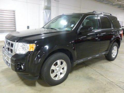 Ebony Black 2012 Ford Escape Limited V6 4WD