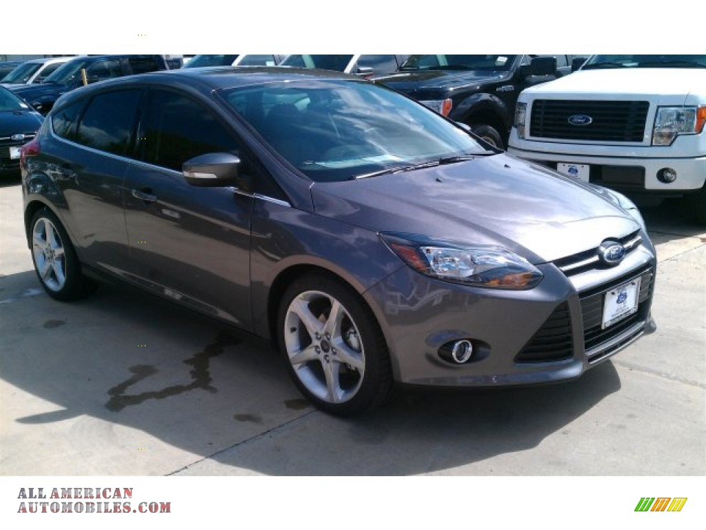 2014 ford focus titanium hatchback in sterling gray 412716 all american automobiles buy. Black Bedroom Furniture Sets. Home Design Ideas